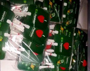 Kipas promosi dari bahan plastik pvc, orderan Pegadian Surabaya