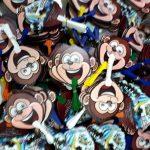 Repeat Order Kipas Plastik Karakter 'Monyet' Qubu Resort