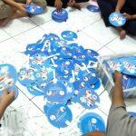 Cetak Kipas Plastik PVC Institus Francais Indonesia